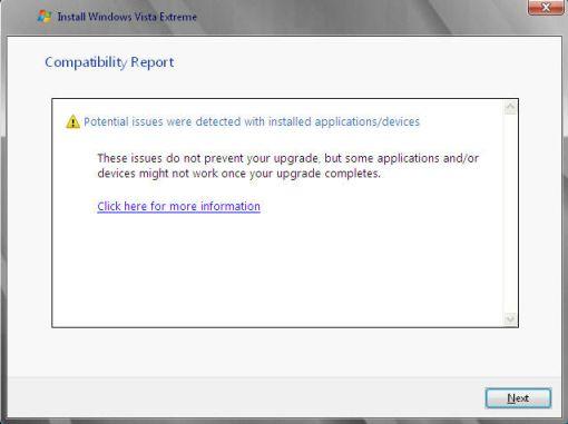 Windows compatibility report