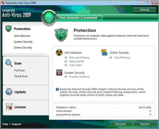 kaspersky antivirus 2009
