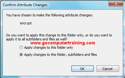 Windows 7 confirm attribute changes