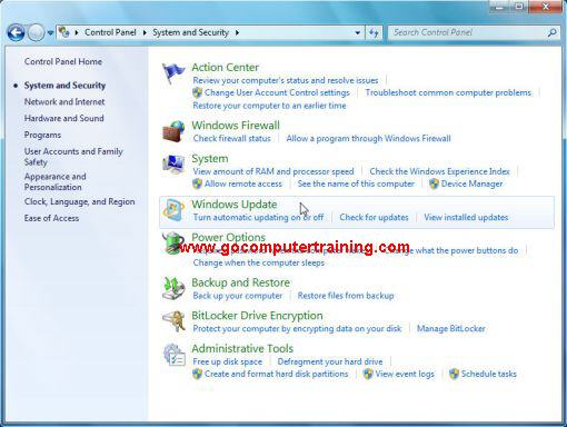 Windows 7 system and security