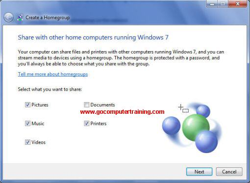 Windows 7 what to share