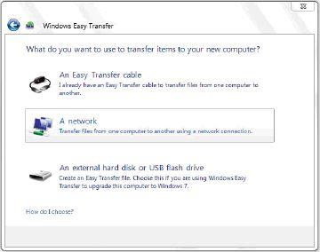 Windows easy transfer method