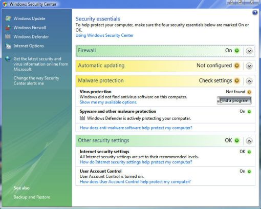 Windows Vista Security | Protecting Your PC Against