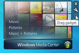 Windows 7 move gadget