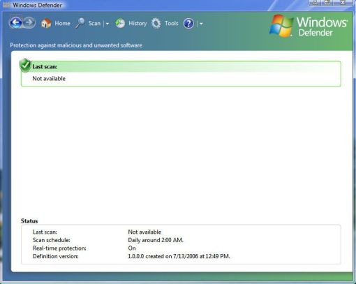 windows vista defender